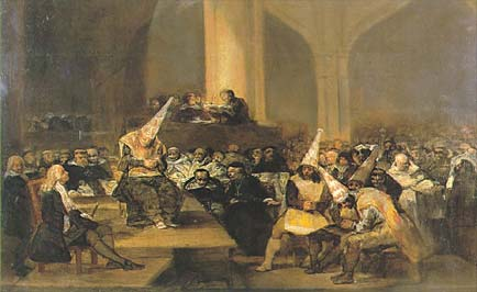 Francisco de Goya. Inquisition Scene. 1816.
