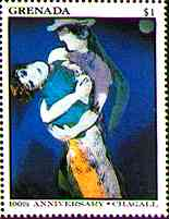 The Lovers, by Chagall
