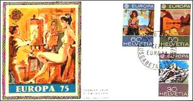 Europa stamps. 1975.