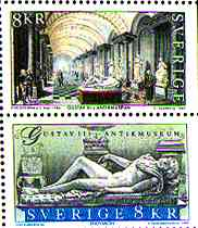 Sweden, 1997. Gustav III Antikmuseum. The stamp above engraved by Slania