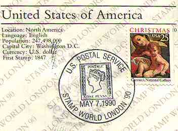 London90. Passport. USA - Entry.