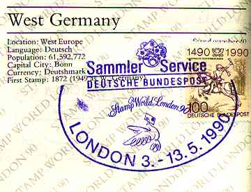 London90. Passport. Germany entry.