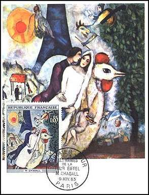 The Lovers of Eiffel Tour, by Chagall