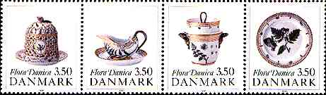 Pieces from Flora Danica Banquet Service, produced for the King Christian VII, 1790, Denmark