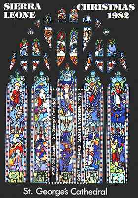 Sierra Leone. Stained-glass Windows.